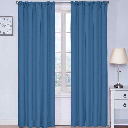 Eclipse Kids Kendall Rod Pocket Blackout Curtain Panel