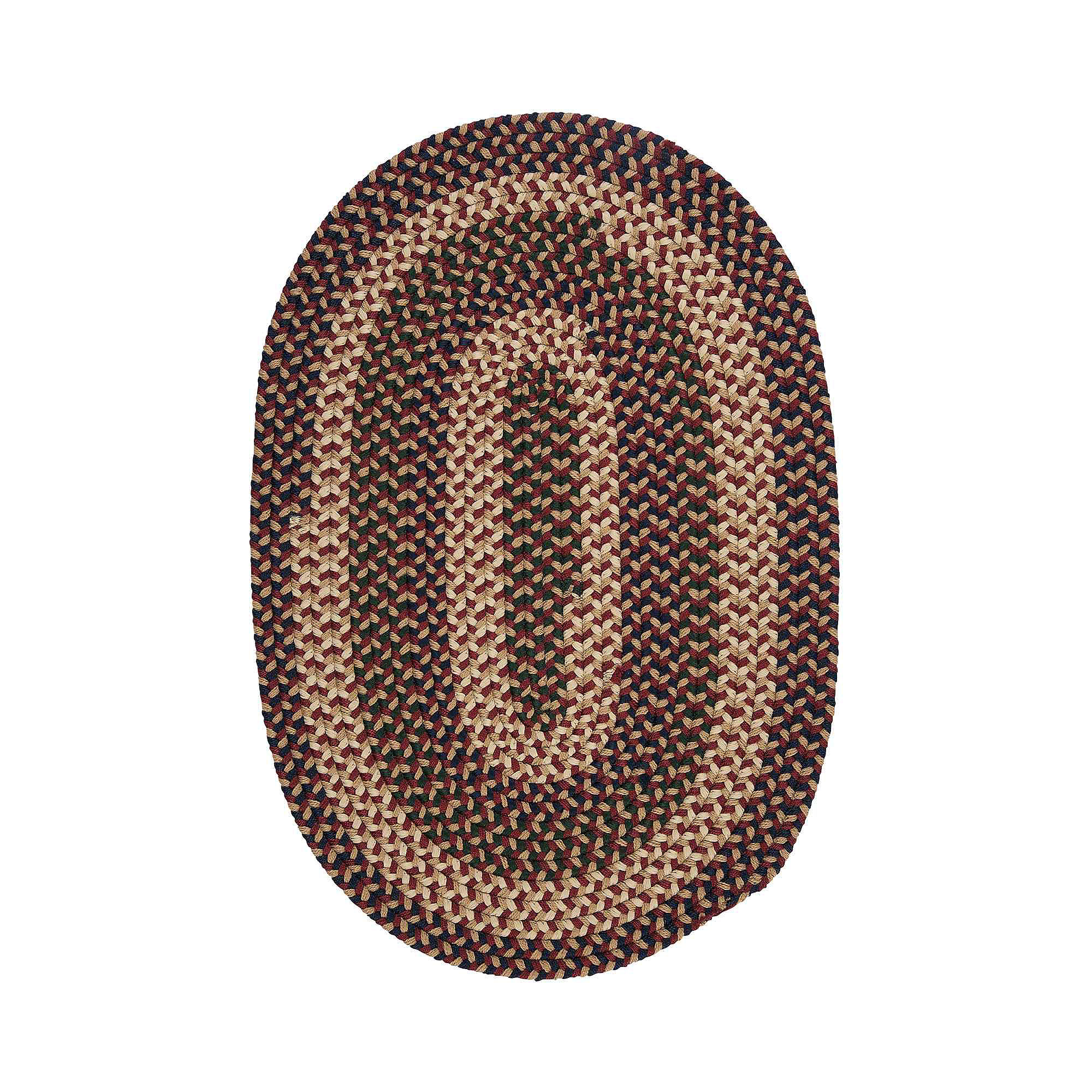 Brook Farm Reversible Braided Indoor/Outdoor Oval Rug