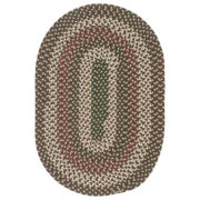 Brook Farm Reversible Braided Indoor/Outdoor Oval Rugs