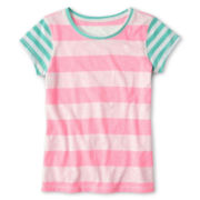 Arizona Favorite Striped Tee - Girls 6-16 and Plus