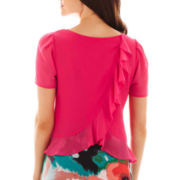 Bisou Bisou® Ruffled-Back Crop Top