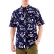 St. John's Bay® Short-Sleeve Printed Tropical Shirt