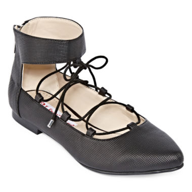jcpenney.com | Two Lips Too Willow Lace-Up Ballet Flat