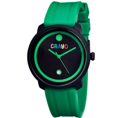 jcpenney.com | Crayo Unisex Fresh Green Rubber-Strap Watch With Date Cracr0308