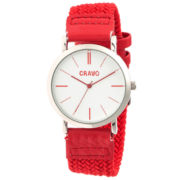Crayo Womens Symphony Red Nylon-Band Watch Cracr2701