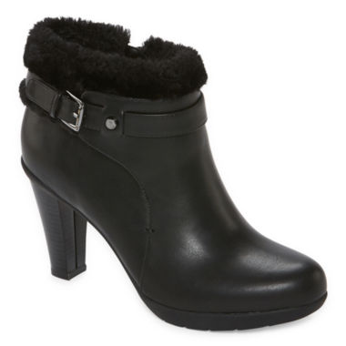 jcpenney.com | Liz Claiborne® Scrappy Heeled Ankle Booties - Wide