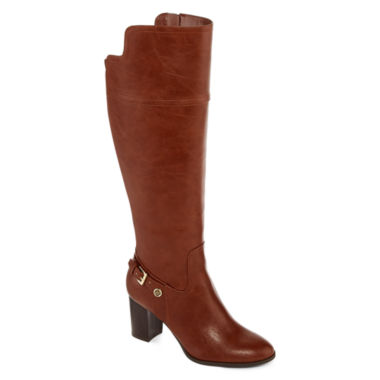 jcpenney.com | Liz Claiborne® Alvis Heeled Riding Boots - Wide Calf, Wide Width