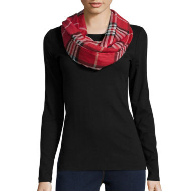 jcpenney.com | V. Fraas Plaid Oblong Scarf