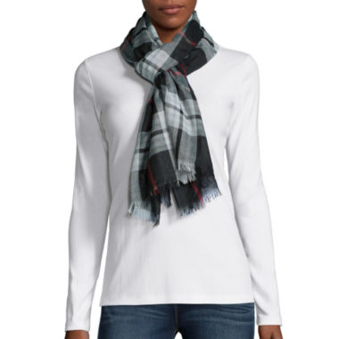jcpenney.com | V. Fraas Plaid Loop Neck Scarf