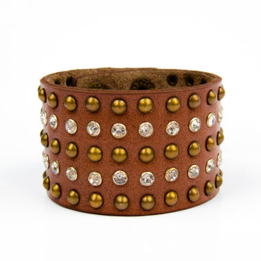 jcpenney.com | Arizona Crystal and Leather Bracelet