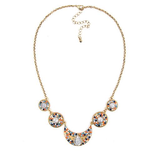 Arizona Linked Gold-Tone Beaded Necklace