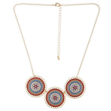 jcpenney.com | Decree® Circles Epoxy Statement Necklace
