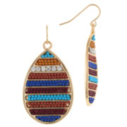 Decree® Beaded Teardrop Statement Earrings