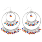 Decree® Layered Seedbead Hoop Earrings