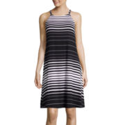 a.n.a® Sleeveless Striped Swing Tank Dress