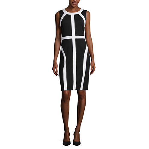 RN Studio by Ronni Nicole Sleeveless Colorblock Sheath Dress