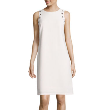 jcpenney.com | Worthington® Sleeveless Grommet-Shoulder Shift Dress
