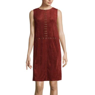 jcpenney.com | Luxology Sleeveless Faux-Suede Shift Dress