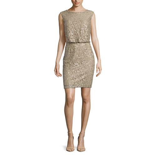 Scarlett Sleeveless Sparkle Lace Blouson Dress