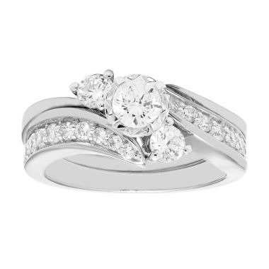 jcpenney.com | 1 CT. T.W. Diamond 10K White Gold Bridal Set