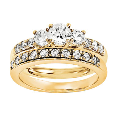 jcpenney.com | 1/2 CT. T.W Diamond 14K Yellow Gold Bridal Set
