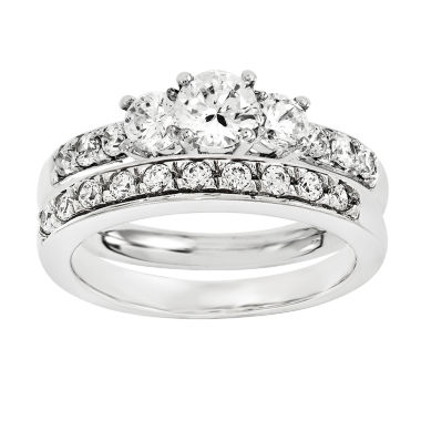 jcpenney.com | 1/2 CT. T.W Diamond 14K White Gold Bridal Set