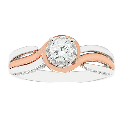 1/2 CT. T.W. Diamond 14K Two-Tone Engagement Ring