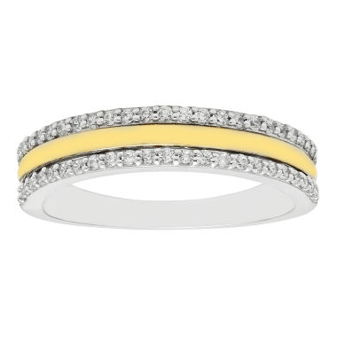 jcpenney.com | 1/4 CT. T.W. Diamond 10K Two-Tone Wedding Band