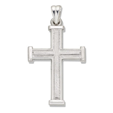 jcpenney.com | Sterling Silver Textured Latin Cross Charm Pendant