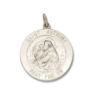 jcpenney.com | Sterling Silver Round Saint Anthony Medal Charm Pendant