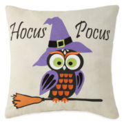 JCPenney Home™ Hocus Pocus Owl Broom Pillow