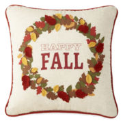 JCPenney Home™ Happy Fall Wreath Pillow