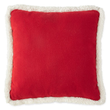 jcpenney.com | North Pole Trading Co. Tartan Solid Sherpa-Back Pillow