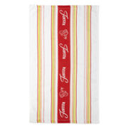 Fiesta® Logo Scarlet-Colored Kitchen Towel