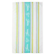 Fiesta® Logo Turquoise-Colored Kitchen Towel