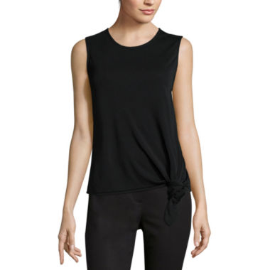 jcpenney.com | Liz Claiborne® Side-Knot Tank Top - Tall