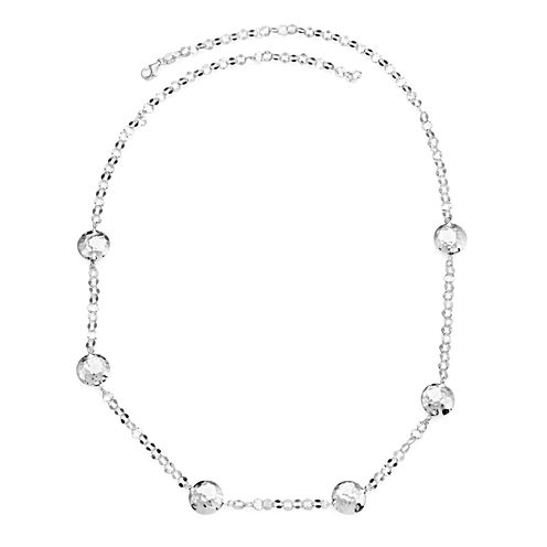 Womens 24 Inch Sterling Silver Link Necklace