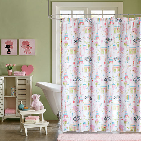 Penelope The Poodle Shower Curtain