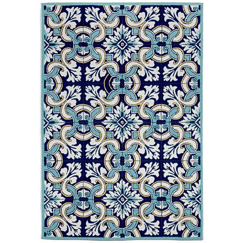 Liora Manne Ravella Floral Tile Hand Tufted Rectangular Rugs