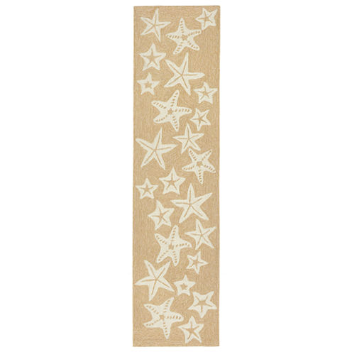Liora Manne Capri Starfish Hand Tufted Rectangular Runner