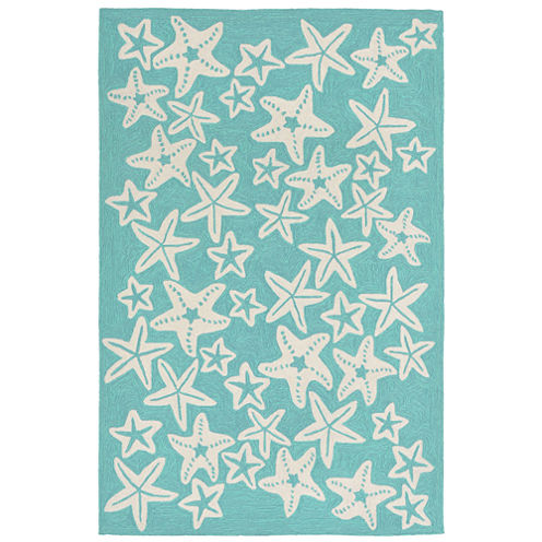 Liora Manne Capri Starfish Hand Tufted Rectangular Rugs