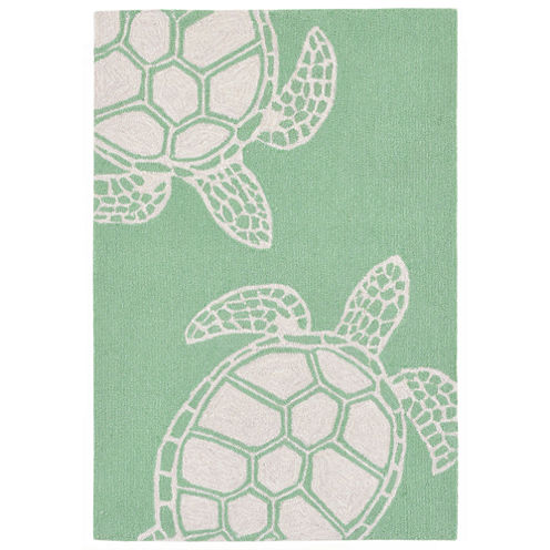 Liora Manne Capri Turtle Hand Tufted Rectangular Rugs