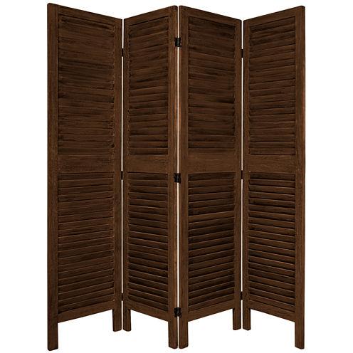 Oriental Furniture 5.5' Classic Venetian 4 Panel Room Divider
