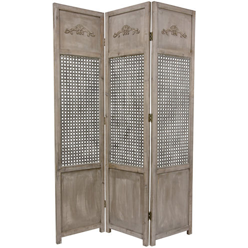 Oriental Furniture 6' Open Mesh Room Divider