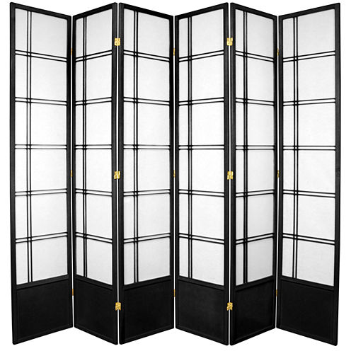 Oriental Furniture 7' Double Cross Shoji 6 Panel Room Divider