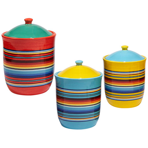 Certified International Pinata 3-pc. Canister