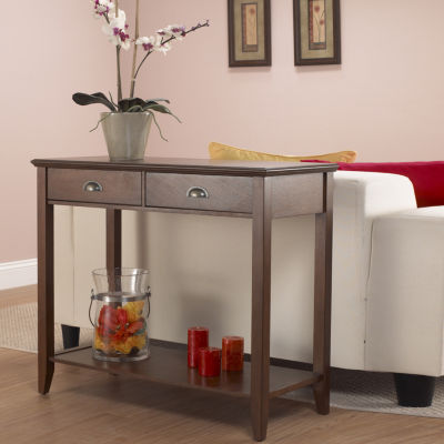 Lovely 2 Drawer Console Table