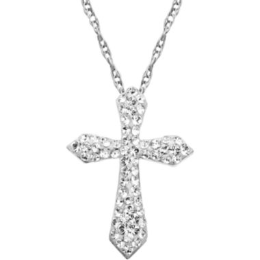 jcpenney.com | Crystal Cross Pendant Necklace