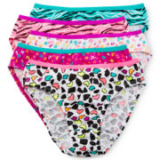 Maidenform 5-pk. Animal-Print Bikini Panties - Girls 4-14