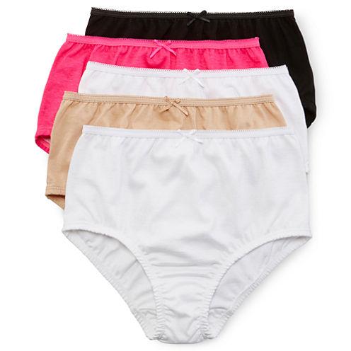 Maidenform 5-pk. Solid Panties - Girls 4-14